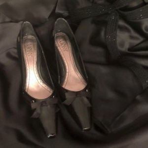 Franco Sarto Black Patent Leather Pumps